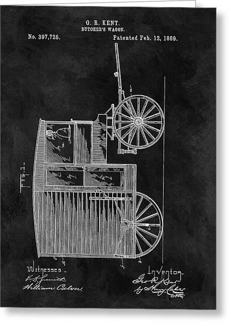 Butcher's Wagon Patent Greeting Card by Dan Sproul