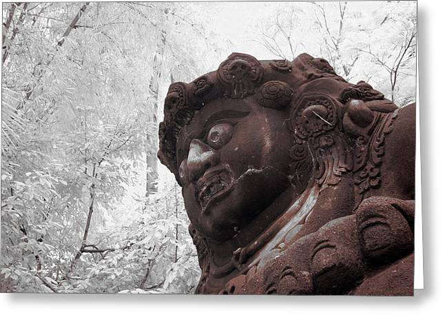 Statue Portrait Greeting Cards - Buto Greeting Card by Mario Bennet