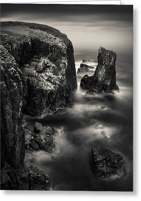 Butt Of Lewis Cliffs Greeting Card by Dave Bowman