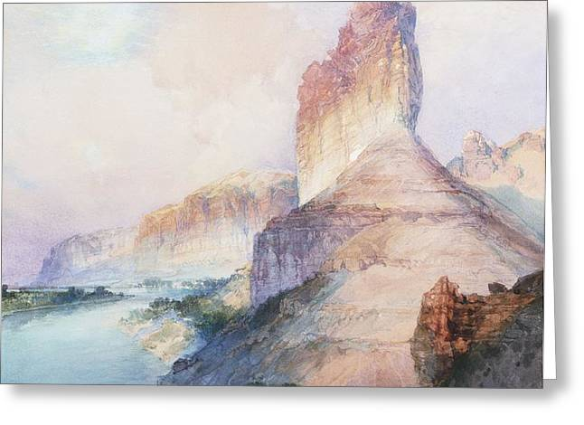 Butte Green River Wyoming Greeting Card by Thomas Moran