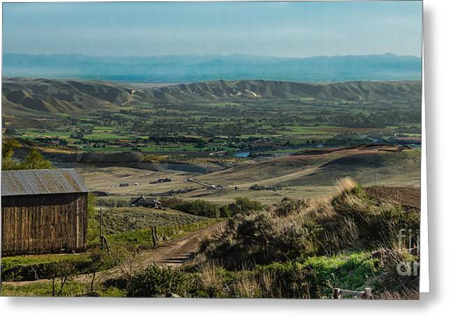 Treasure Valley Greeting Cards - Butte View Greeting Card by Robert Bales