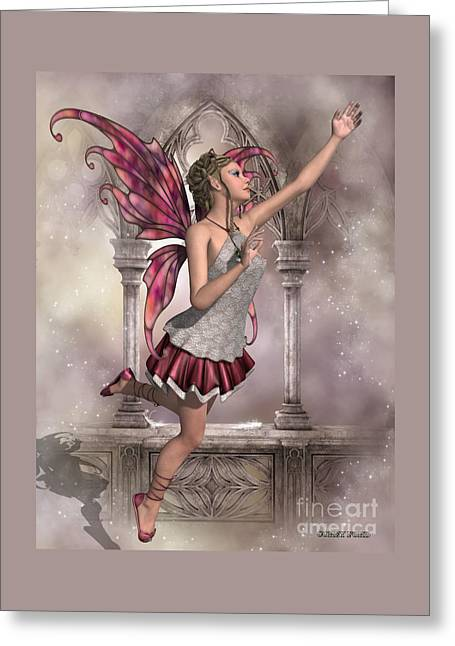 Buttercup Fairy Greeting Card by Corey Ford