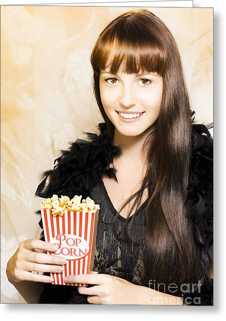 Buttered Popcorn At Showtime Greeting Card by Jorgo Photography - Wall Art Gallery