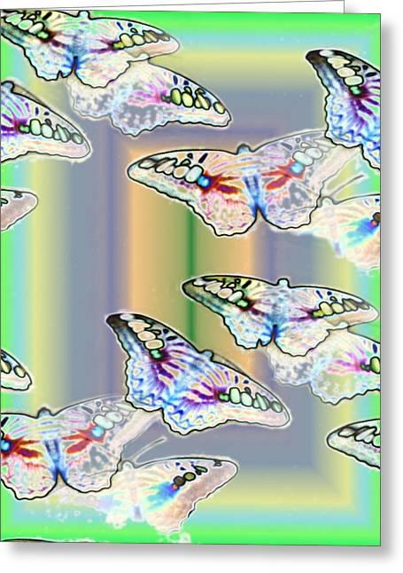 Butterflies In The Vortex Greeting Card by Tim Allen