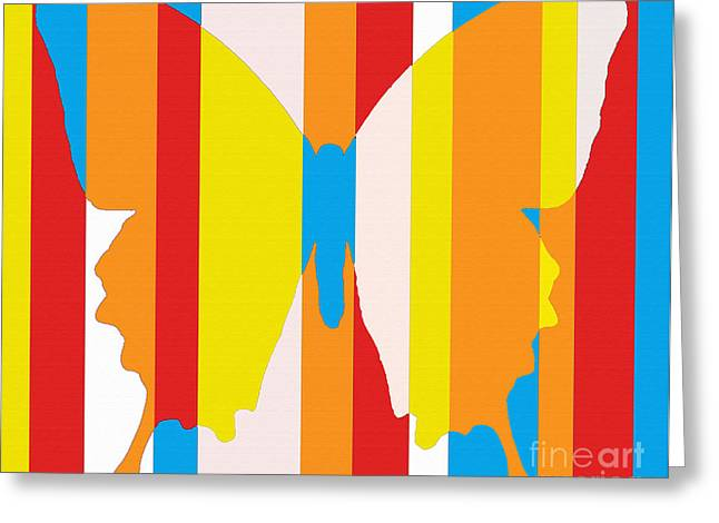 Abstract Expressionist Greeting Cards - Butterfly 1123 Greeting Card by Flo Ryan