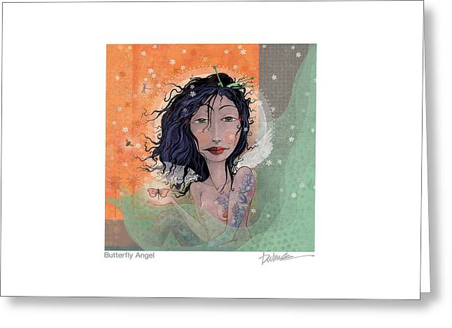 Dragonflies Greeting Cards - Butterfly Angel 2 Greeting Card by Dennis Wunsch