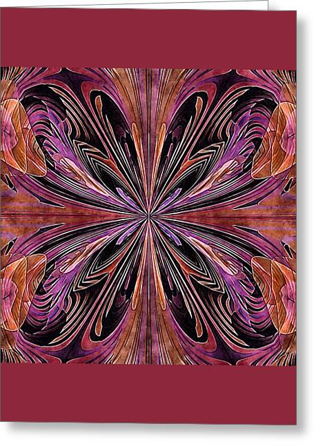 Butterfly Art Nouveau Greeting Card by Susan Maxwell Schmidt