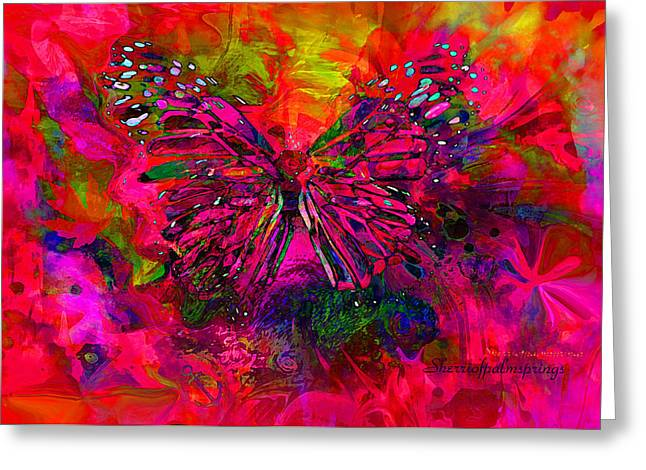 Digital Art Greeting Cards - Butterfly Art  They Are The Spirit Of Peace  by Sherriofpalmsprings Greeting Card by Sherri  Of Palm Springs