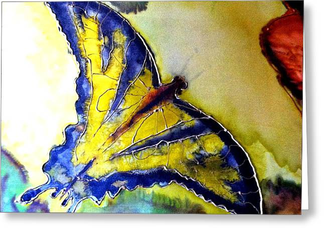 Butterfly Tapestries - Textiles Greeting Cards - Butterfly Greeting Card by Beverly Johnson