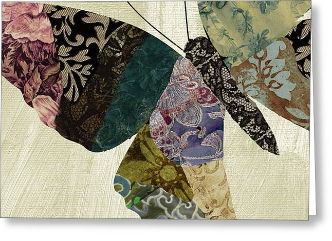 Butterfly Paintings Greeting Cards - Butterfly Brocade I Greeting Card by Mindy Sommers