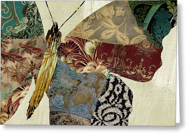 Butterflies Paintings Greeting Cards - Butterfly Brocade IV Greeting Card by Mindy Sommers