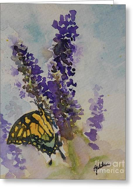 Recently Sold -  - Loose Greeting Cards - Butterfly Bush Greeting Card by Gretchen Bjornson