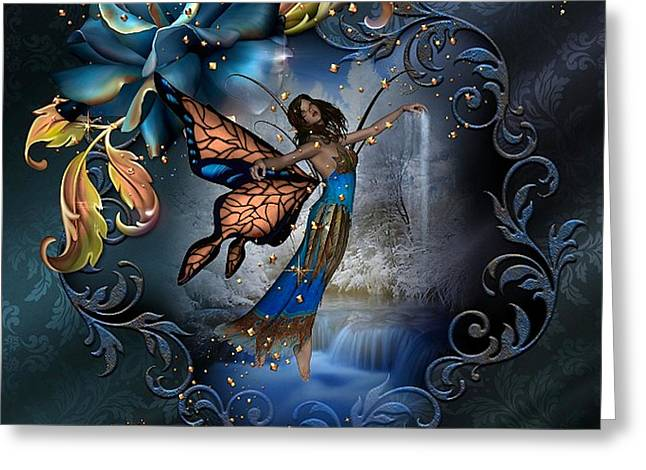 Bedroom Art Greeting Cards - Butterfly Fairy Greeting Card by G Berry