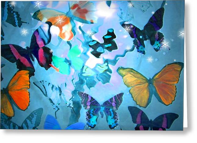 Morph Greeting Cards - Butterfly Heaven Greeting Card by Rosalie Scanlon