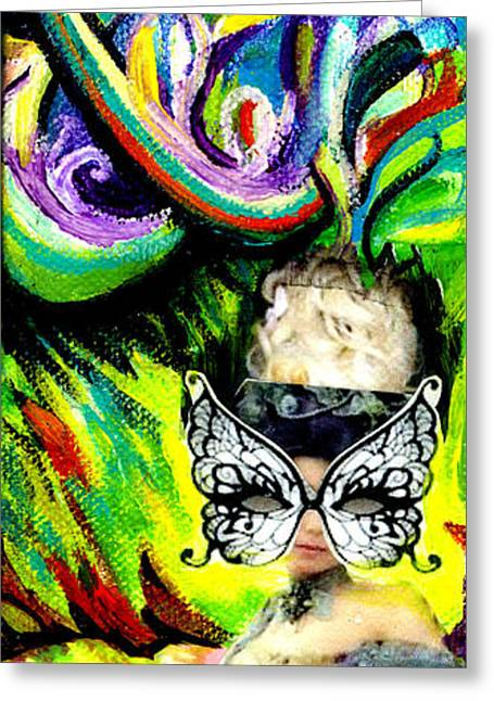 Ball Gown Greeting Cards - Butterfly Masquerade Greeting Card by Genevieve Esson