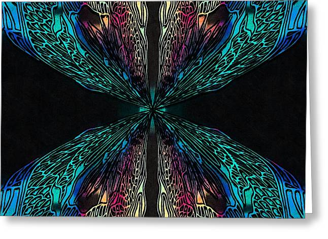 Tablets Greeting Cards - Butterfly of Chaos Greeting Card by Susan Maxwell Schmidt