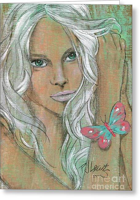 Butterfly Greeting Card by P J Lewis
