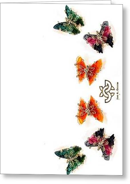 Butterflies Jewelry Greeting Cards - Butterfly Path Greeting Card by Jane A  Gordon