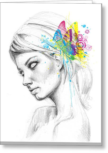Butterfly Queen Greeting Card by Olga Shvartsur