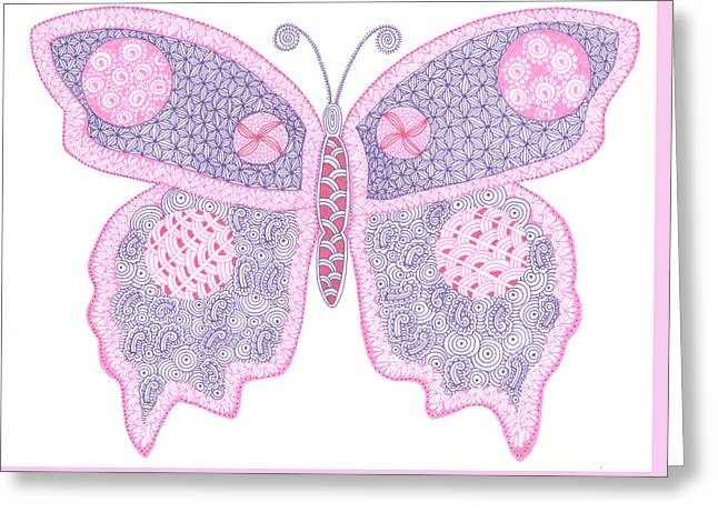 Butterflies Drawings Greeting Cards - In the struggle you find your wings Greeting Card by Sharon White