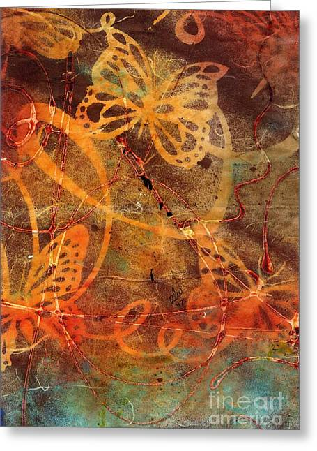 Butterfly Sun Dance Greeting Card by Angela L Walker
