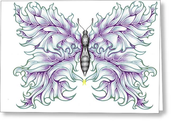 Butterfly Tattoo 2 Greeting Card by Karen Musick