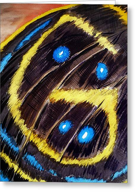 Butterflies Paintings Greeting Cards - Butterfly Wing Greeting Card by Irina Sztukowski