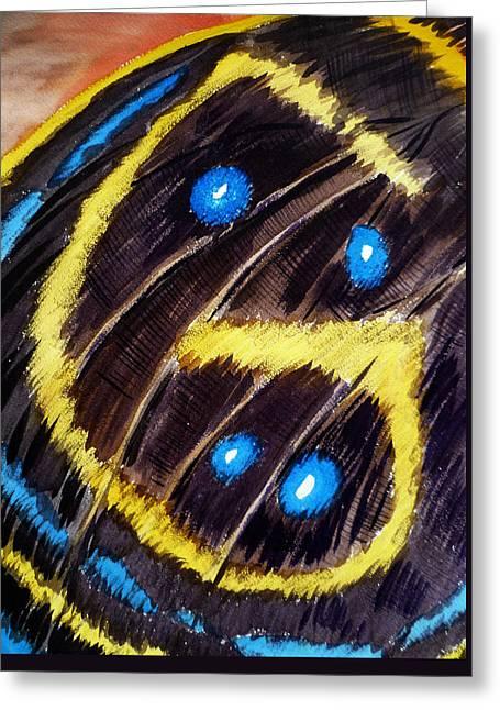 Butterfly Wing Greeting Card by Irina Sztukowski