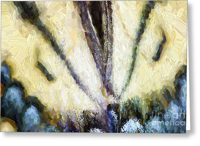 Modern Digital Art Digital Art Greeting Cards - Butterfly Wings Abstract Greeting Card by Darren Fisher
