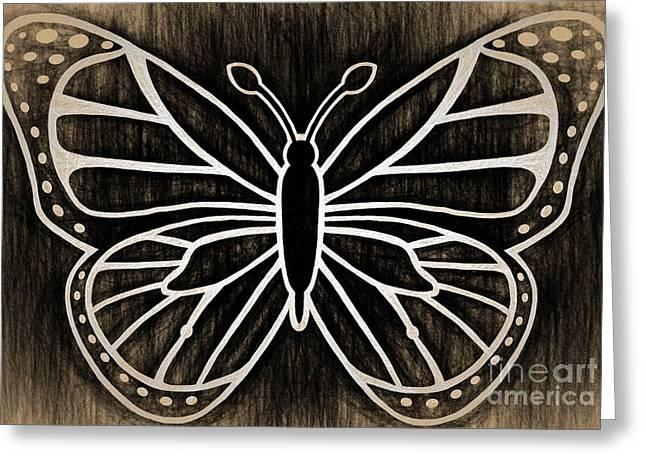 Butterfly Wisdom Greeting Card by Kasia Bitner