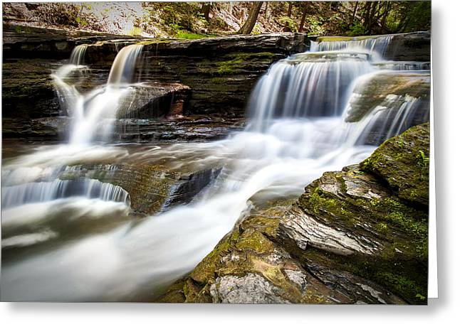 Buttermilk Falls Greeting Cards - Buttermilk Cascades Greeting Card by Katherine Hawkins