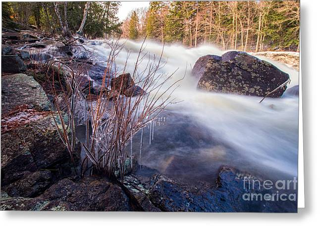Buttermilk Falls Greeting Cards - Buttermilk Falls ADK Greeting Card by Rod Best