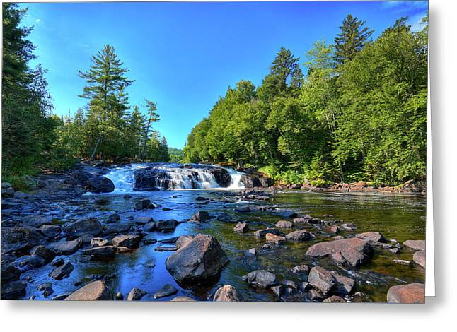 Buttermilk Falls Greeting Card by David Patterson
