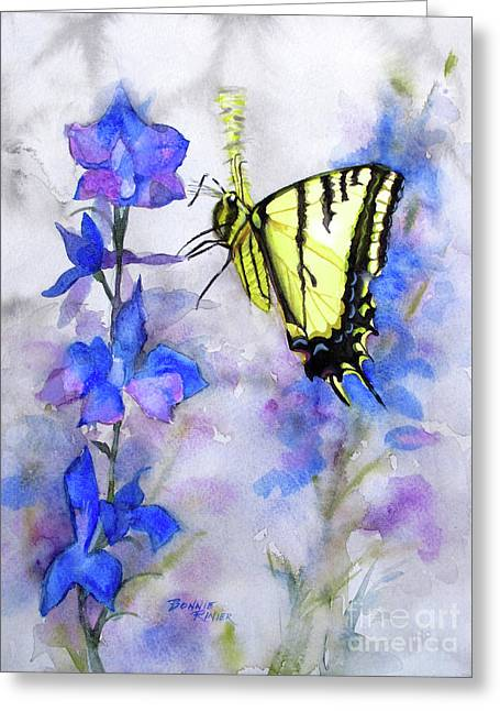 Butteryfly Delight Greeting Card by Bonnie Rinier