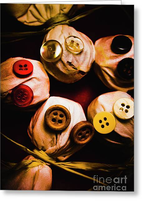 Button Sack Lollypop Monsters Greeting Card by Jorgo Photography - Wall Art Gallery