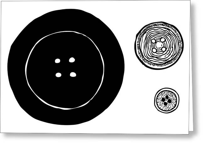 Apparel Greeting Cards - Buttons Greeting Card by Karl Addison