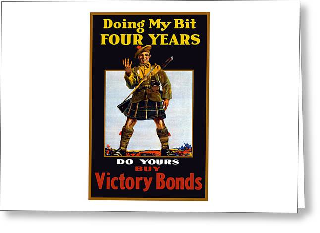 Buy Victory Bonds Greeting Card by War Is Hell Store