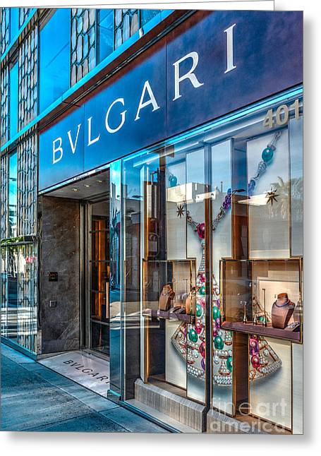 Bvlgari Beverly Hills Greeting Card by David Zanzinger