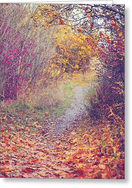 By Autumn Path 1 Greeting Card by Jenny Rainbow