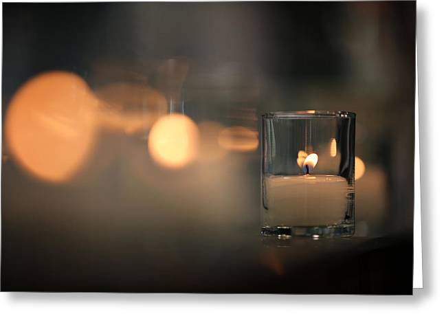 By Candlelight Greeting Card by Rick Berk
