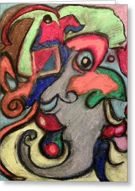 Many Pastels Greeting Cards - by Derrick Hayes Abstract Greeting Card by Derrick Hayes