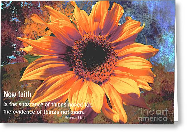 Bible Greeting Cards - By Faith We Understand Hebrews 11 1 Greeting Card by Beverly Guilliams