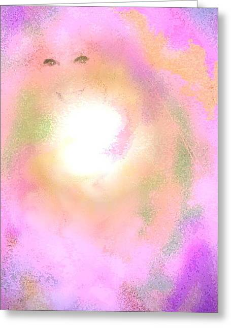 By Myself Greeting Cards - By Rainbows Light Greeting Card by Desline Vitto