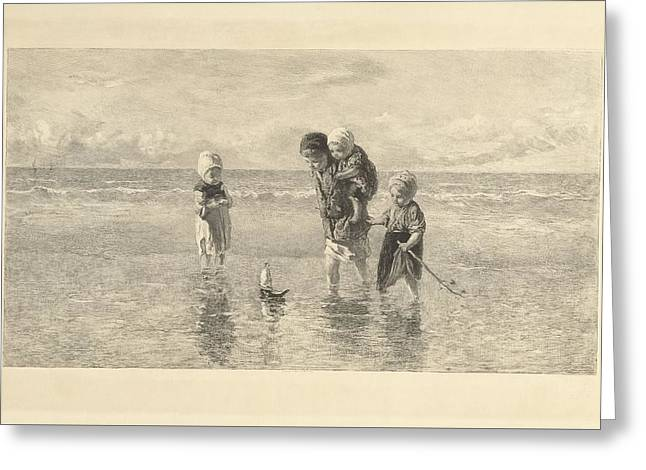 By The Beach Greeting Card by Celestial Images