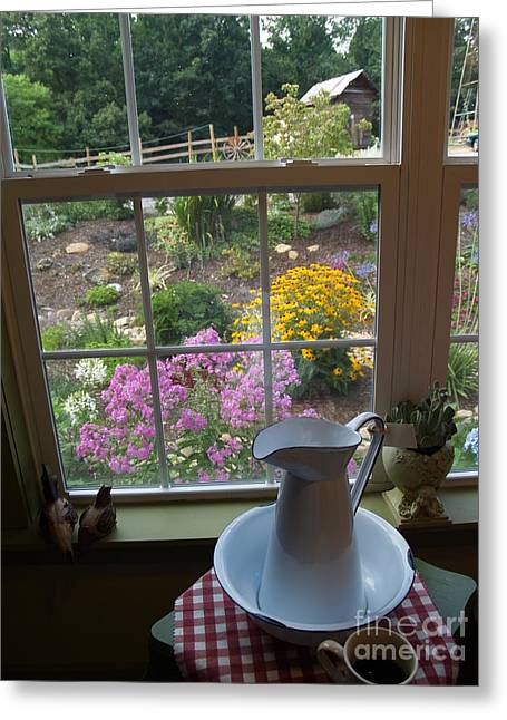Ahead Greeting Cards - By the Garden Window in North Carolina Greeting Card by Anna Lisa Yoder