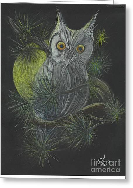 Halloween Pastels Greeting Cards - By The Light of the Moon Greeting Card by Carol Wisniewski