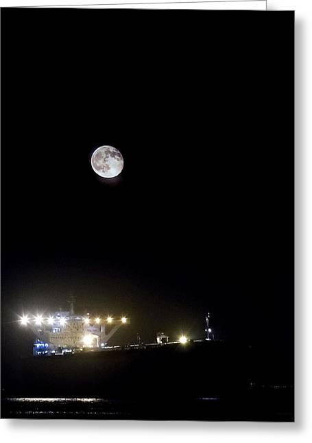 California Beach Art Greeting Cards - By The Light of The Moon Greeting Card by Denise Dube