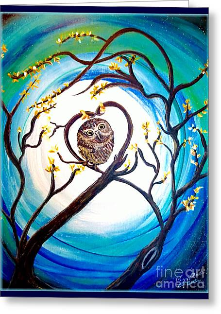 By The Light Of The Moon I Will Find You Greeting Card by Kimberlee Baxter