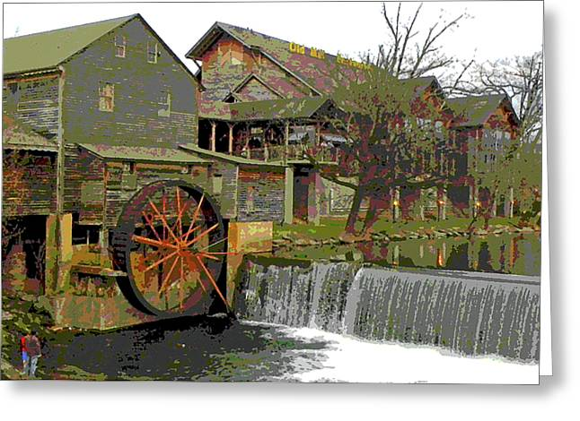 By the Old Mill Stream Greeting Card by Larry Bishop