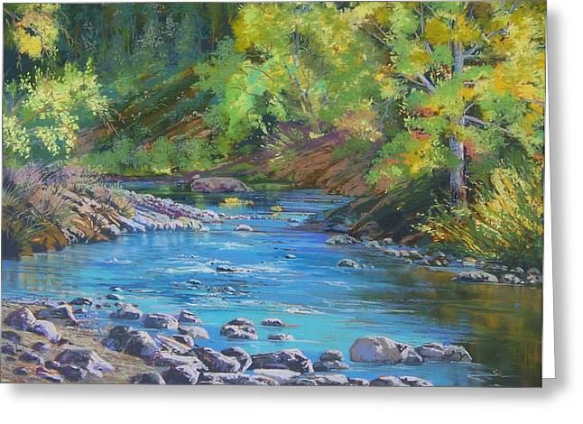 Markleeville Greeting Cards - By the River Greeting Card by Bonita Paulis